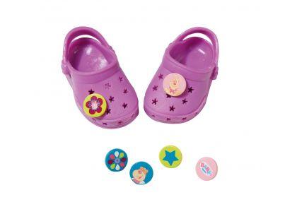 Baby Born Gumové sandálky - Fialová