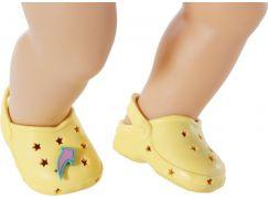 BABY born Gumové sandálky, 4 druhy, 43 cm žluté