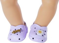 BABY born Gumové sandálky, 4 druhy, 43 cm šeříkové