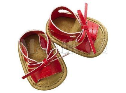 Baby born Módní botičky - sandály červené s mašlí