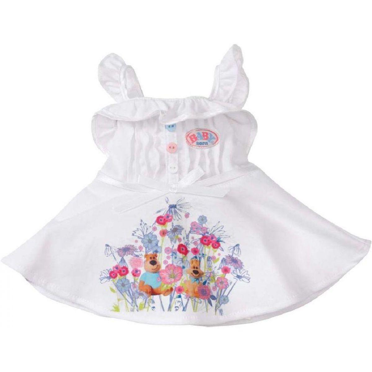 Baby Born Oblečení - Bílé s medvídkem a pejskem