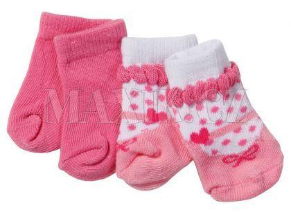 Baby Born Ponožky 2 páry - Růžové, střevíčky