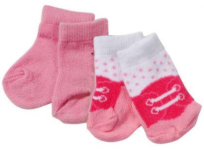 Baby Born Ponožky 2 páry - Růžové, tkaničky