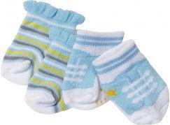 Baby Born Ponožky 2 páry 823576 modré s proužky a modré s tkaničkami