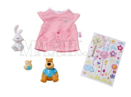 Baby Born Sada 3 zvířátek, tričko a samolepky