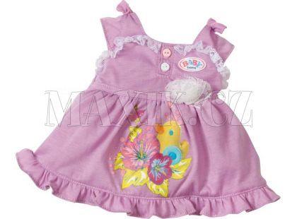 Baby Born Sametový overal a šatičky - Fialové šatičky