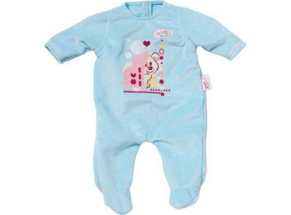 Baby Born Sametový overal a šatičky - Modré dupačky