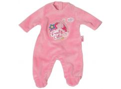 Baby Born Sametový overal s potiskem - Růžová
