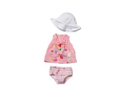 Baby Born Šaty s kloboučkem - Bílá čepička