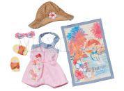Baby Born Souprava plážového oblečení - Růžová