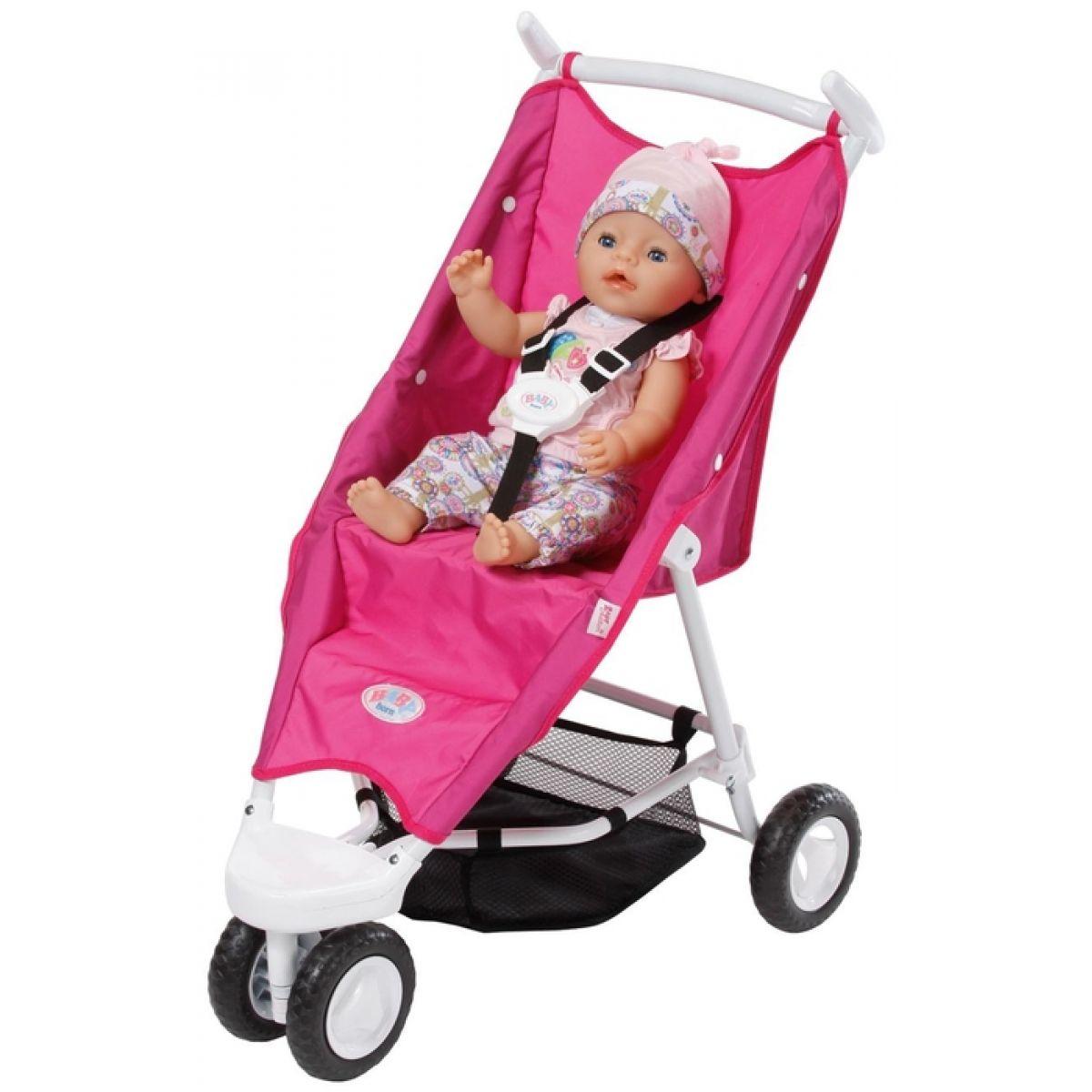 Baby Born Tříkolový kočárek růžový