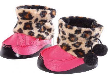 Baby Born Zimní botičky 816806 - Růžové tygrované