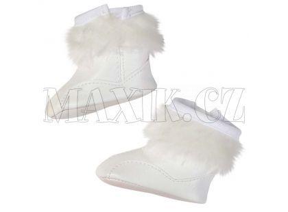Baby Born Zimní boty - Bílá