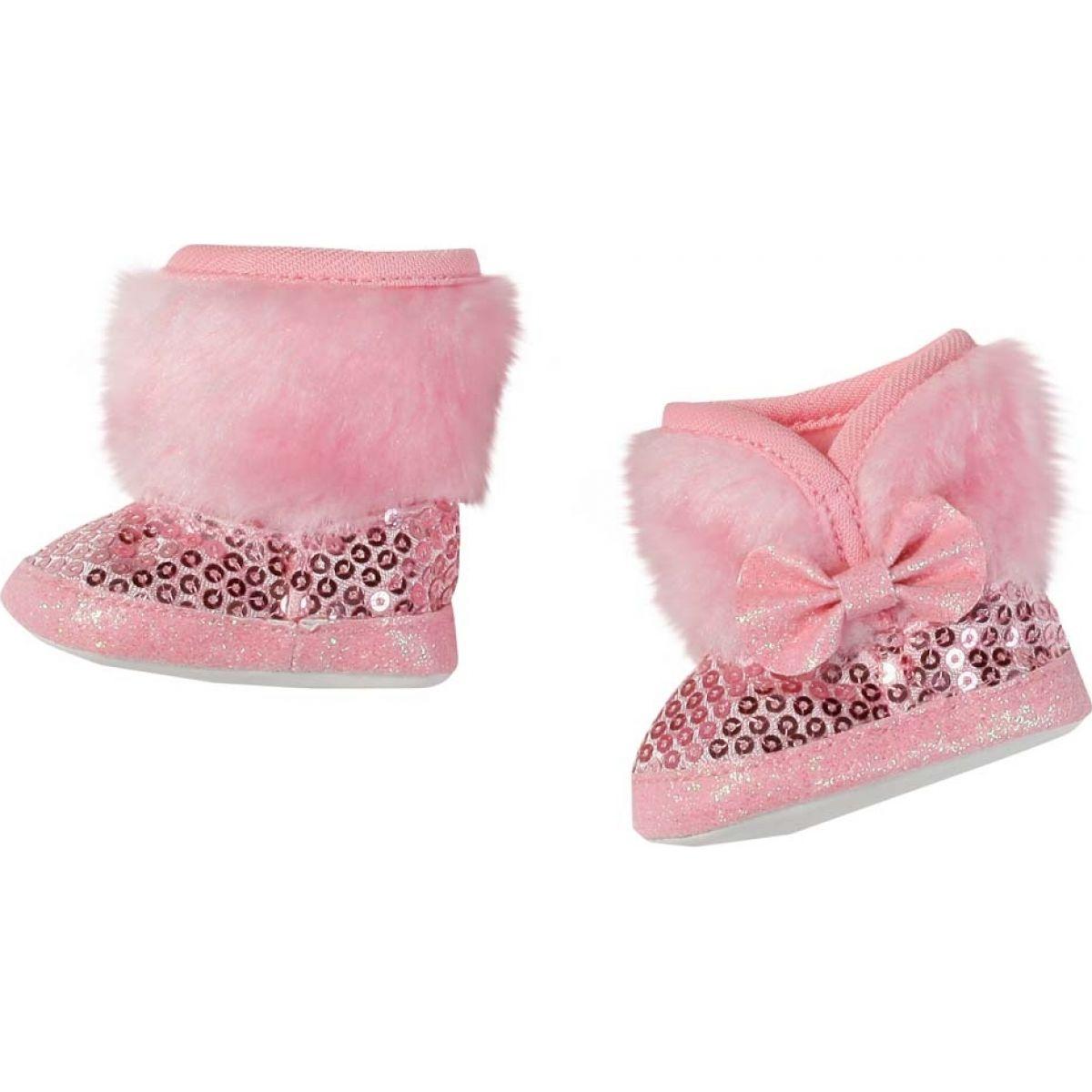 Baby Born Zimní boty 823880 - Růžová
