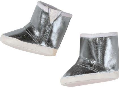 Baby Born Zimní boty 823880 - Stříbrná