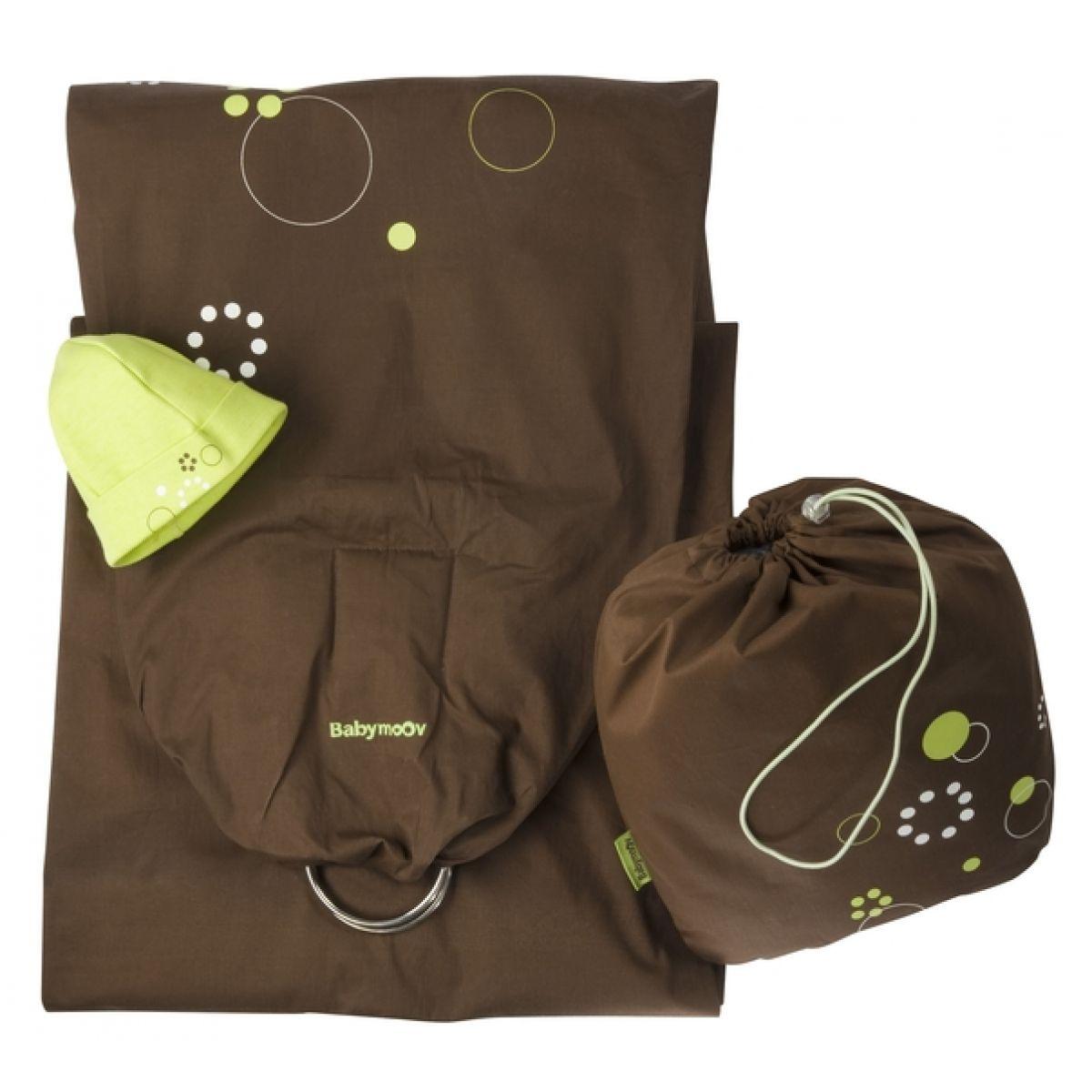 Baby šátek RING CHOCO/GREEN Babymoov 057201