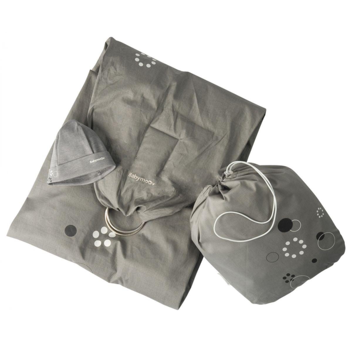 Baby šátek RING GREY/BLACK Babymoov 057202