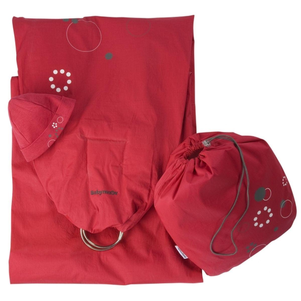 Baby šátek RING RED/GREY Babymoov 057203