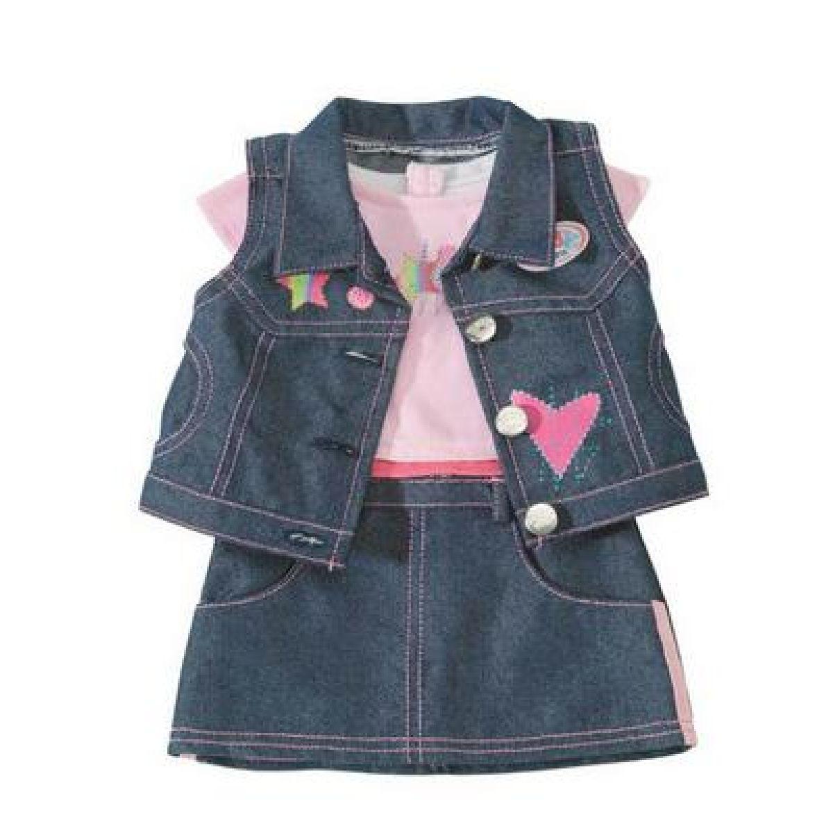 BabyBorn Souprava džínového oblečení na Baby Born - 2 druhy Zapf