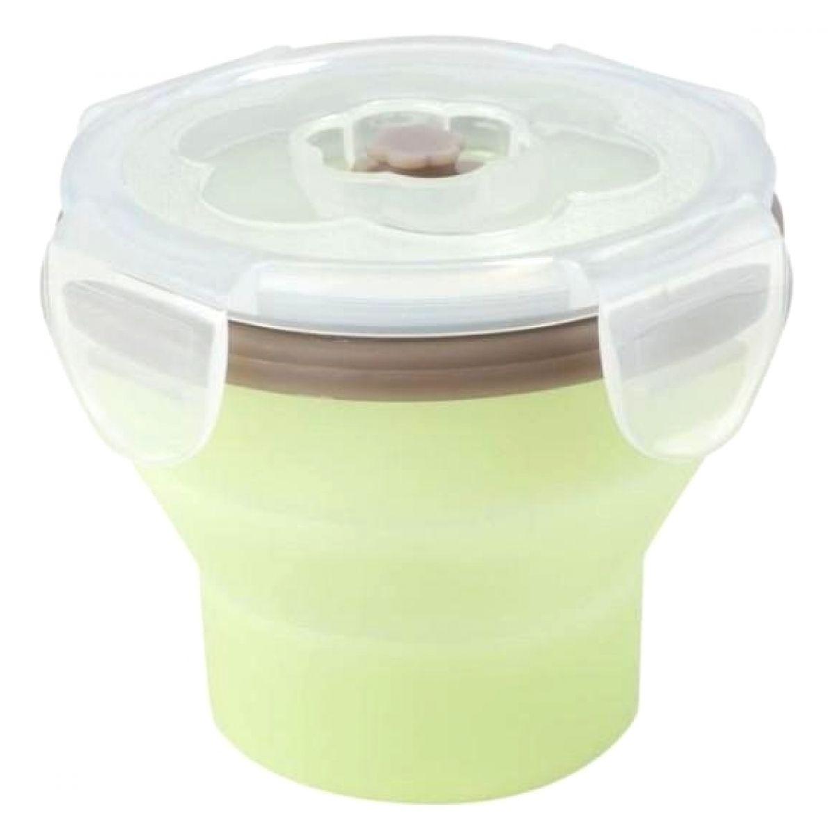 Babymoov Silikonová miska s víčkem 240ml Green