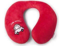 Babypack Cestovní polštář do auta červený