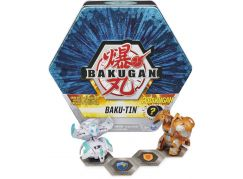 Bakugan Plechový Box s exkluzivním Bakuganem S3 modrý