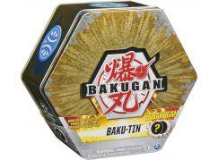 Bakugan Plechový Box s exkluzivním Bakuganem S3 zlatý