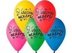 Balonky nafukovací 10'' průměr 26cm Všechno nejlepší 10ks