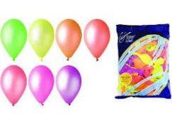 Balonky neonové 100ks