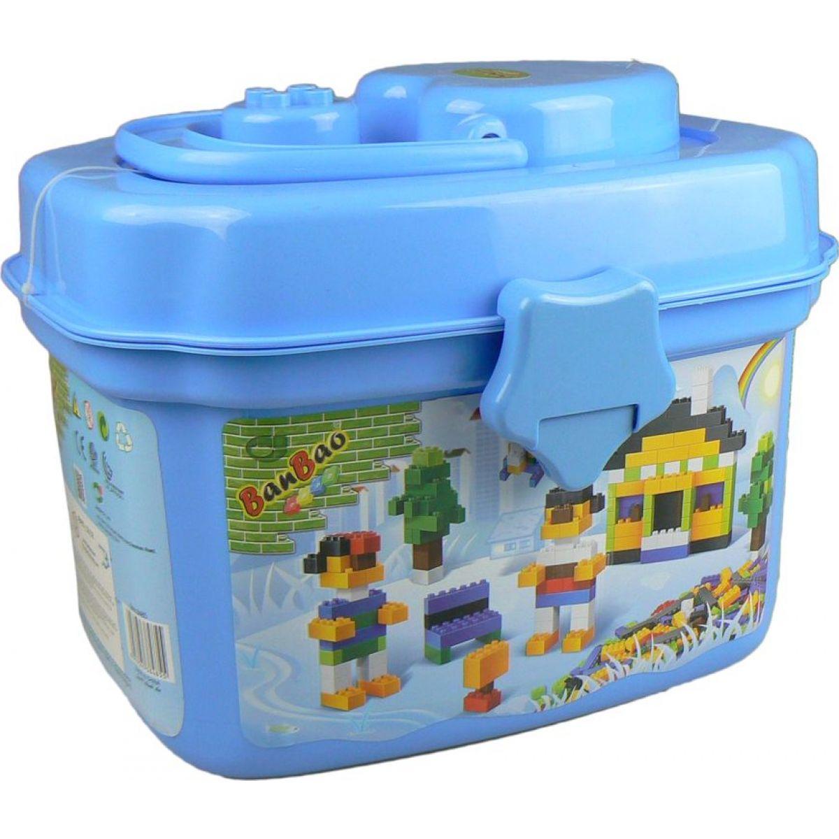 Banbao 8485 Základní kostky 660 dílků v plastovém boxu - Modrá