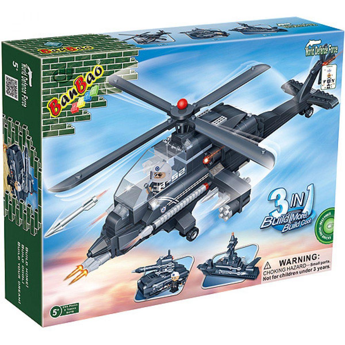 Banbao Armáda 8478 Vrtulník Loď Raketomet 3 v 1