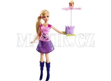Barbie a květina s vílou Thumbelinou P6314