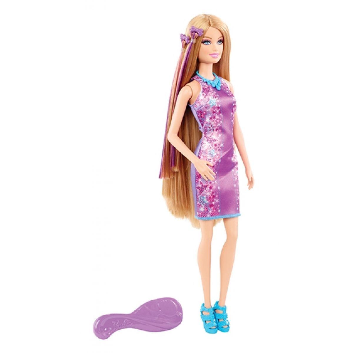 Barbie Fantastické vlasy - Barbie fialová