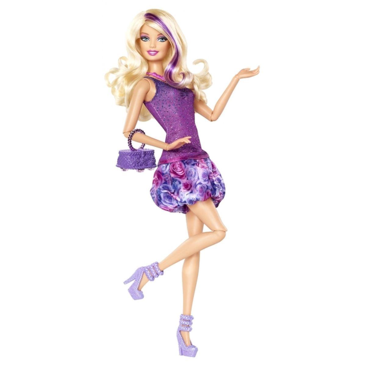 Barbie Fashionistas - X7870 Barbie fialová