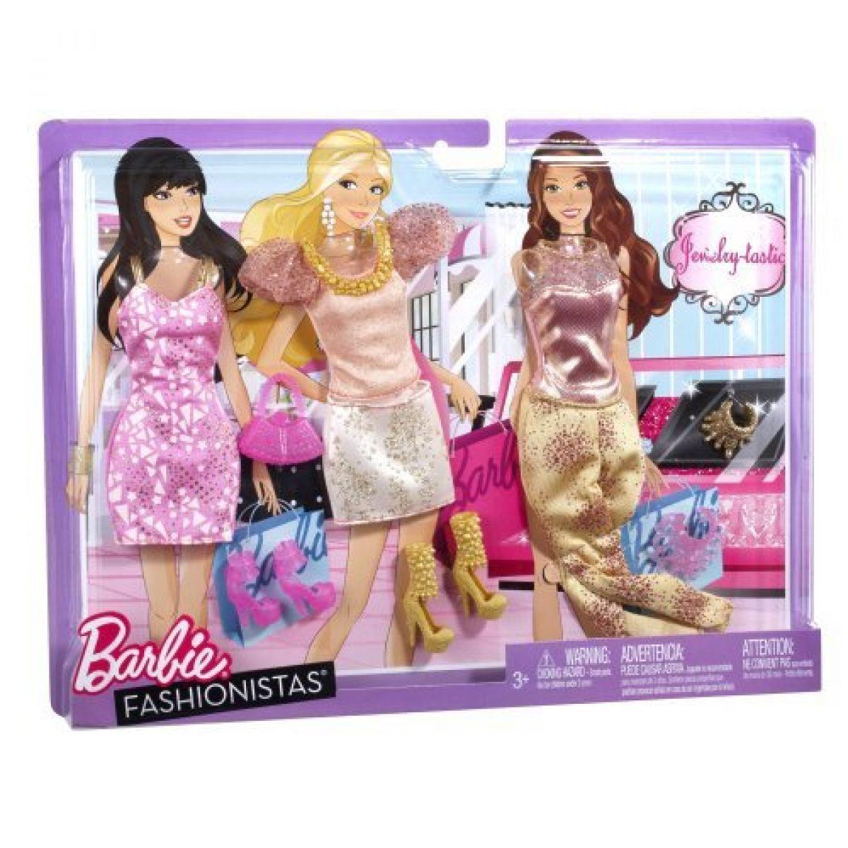 Barbie Fashionistas Relax oblečky - Fialová sada