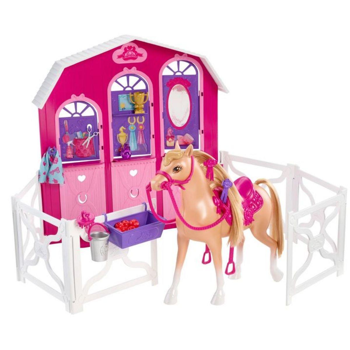 Barbie Hrací set stáj a kůň