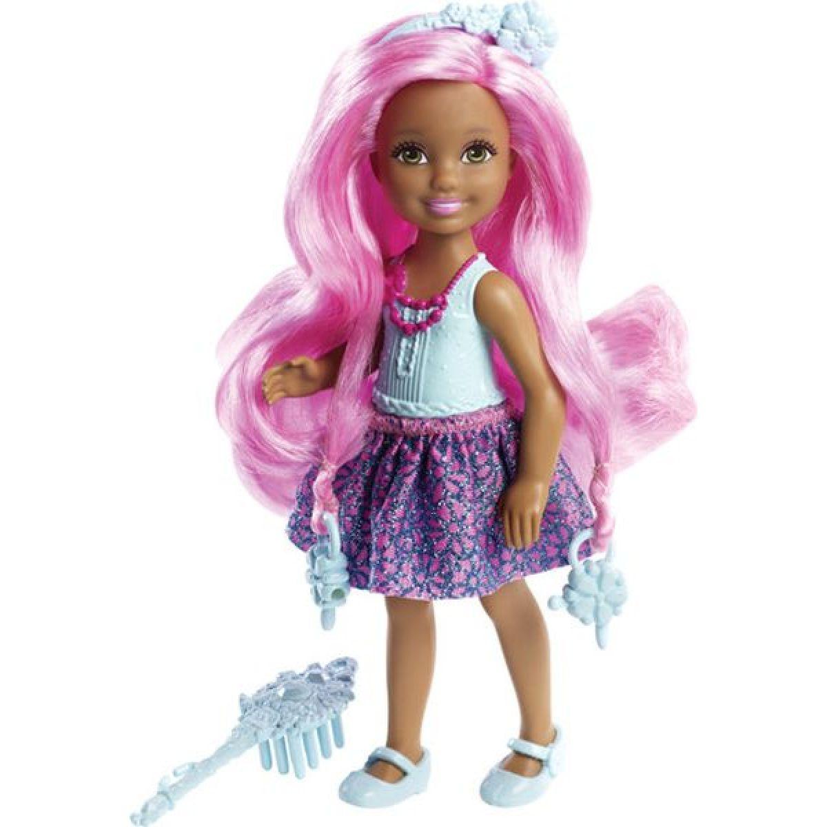 Barbie Malá dlouhovláska - Růžové vlasy