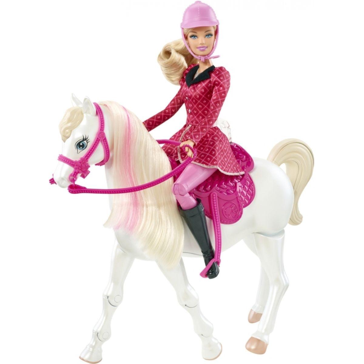 Barbie Panenka a chodící kůň