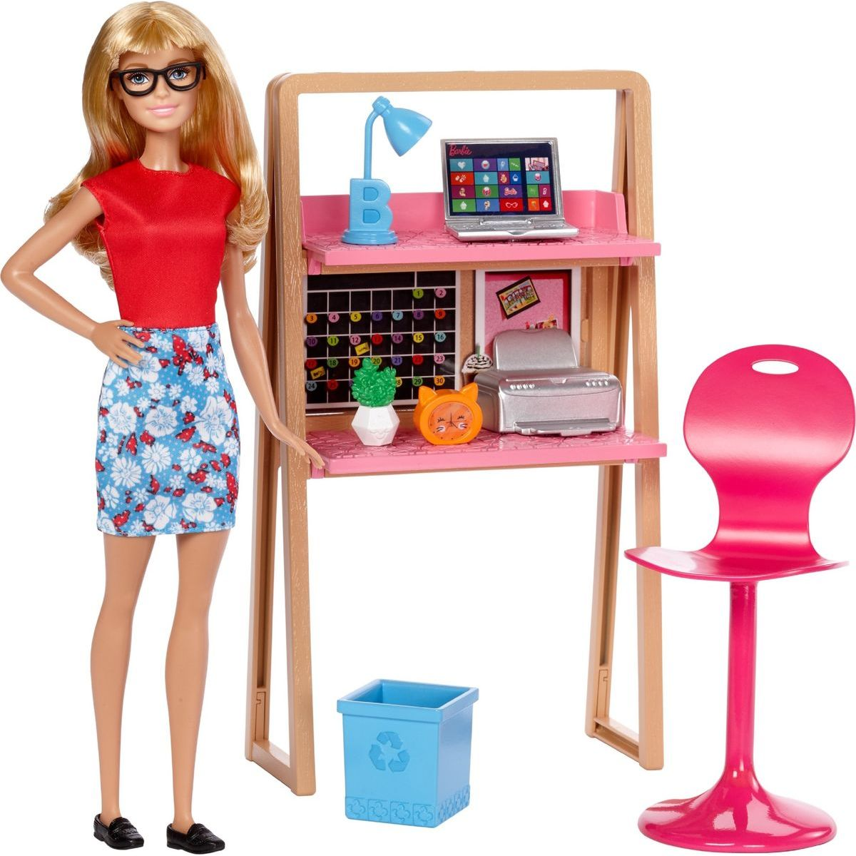 Barbie panenka s nábytkem Kancelář