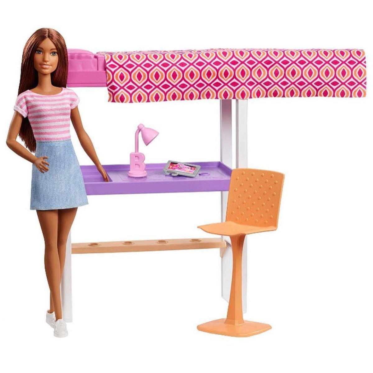 Barbie panenka s nábytkem Pracovna