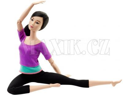 Barbie Panenka v pohybu - Fialové triko