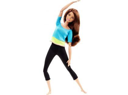 Barbie Panenka v pohybu - Modré triko se žlutým pruhem