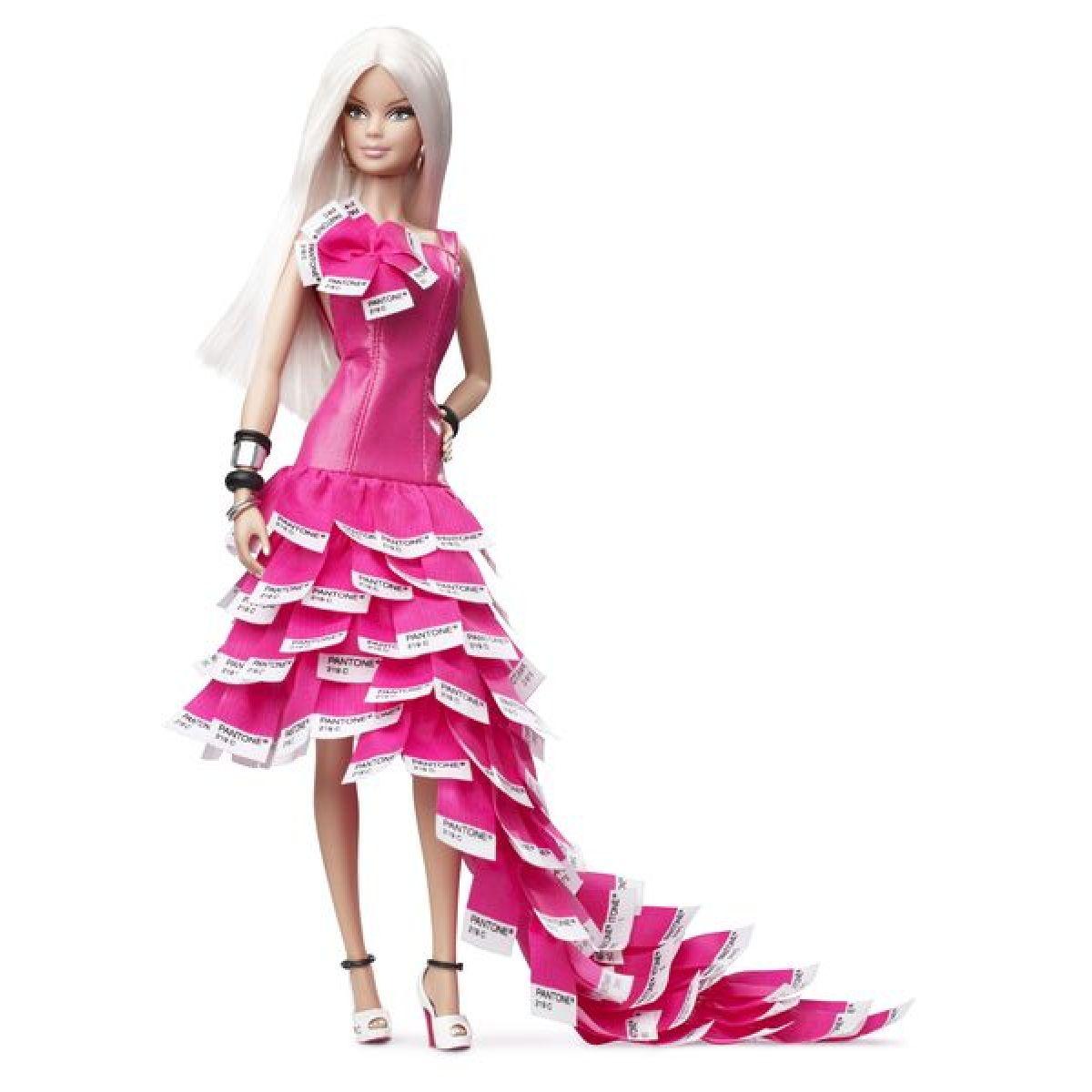Barbie Sběratelská růžová W3376 - DTBZ  2da4b5f20b