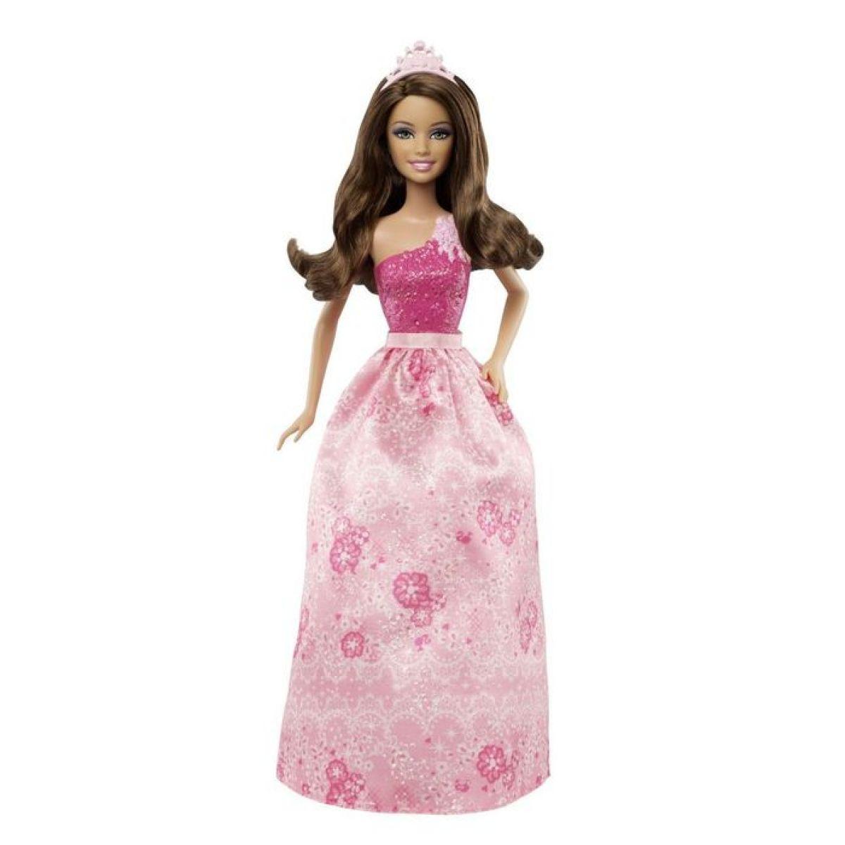 Barbie Třpytivá princezna měnitelné prvky - Brunetka
