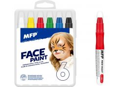 Barvy na obličej a tělo 6ks v krabičce 11x14cm karneval