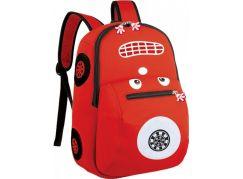 Batoh neoprenový dětský, autíčko červené