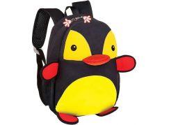 Batoh neoprenový dětský, tučňák černo-žlutý