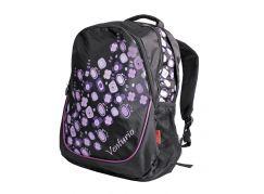 Batoh školní volný čas fialovo-černý