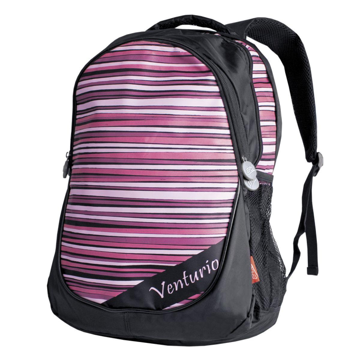 Batoh školní volný čas růžovo-černý