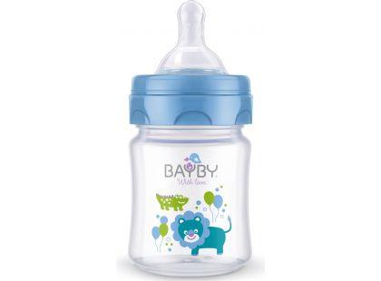 Bayby Kojenecká láhev 120ml modrá